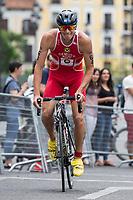 Martin Demuth of Austria during the 2017 Madrid ITU Triathlon World Cup in Madrid, May 28, 2017. Spain.. (ALTERPHOTOS/Rodrigo Jimenez) /NortePhoto.com