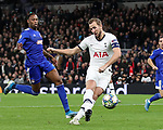 Tottenham's Harry Kane scoring his sides second goal during the UEFA Champions League match at the Tottenham Hotspur Stadium, London. Picture date: 26th November 2019. Picture credit should read: David Klein/Sportimage