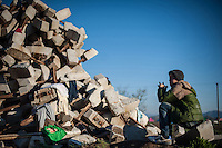IDOMENI, GRECIA, 05.03.2016 - EUROPA-REFUGIADOS - Vista do campo de refugiados na cidade de Idomeni na Grécia neste sábado, 05. (Foto:  Ivan Romano/Brazil Photo Press)