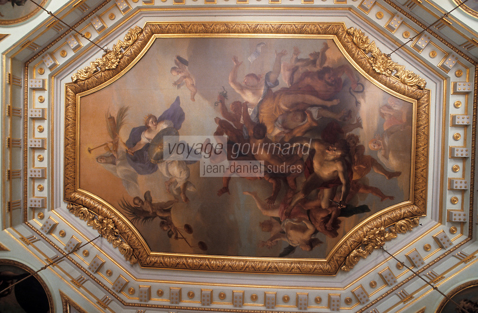 Europe/France/Rhône-Alpes/69/Rhône/Lyon: Le plafond de l'hôtel de ville peint par Thomas Blanchet