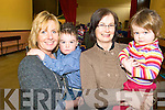 TODDLERS: Members of the Parents & Toddlers Group who meet every Friday morning in St Agatha's Hall in Glenflesk, l-r: Sandra and Conor O'Donoghue, Anne and E?abha Lynch.