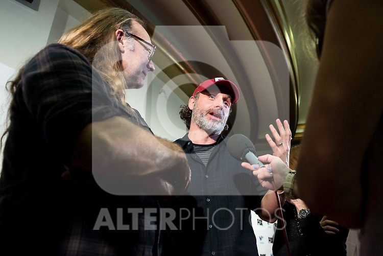 "Andrew Lincoln and director of the series, Greg Nicotero attends to an event with fans of ""The Walking Dead"" at Cines Capitol in Madrid. March 09, 2017. (ALTERPHOTOS/Borja B.Hojas)"
