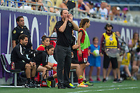 Orlando, FL - Sunday June 26, 2016: Mark Parsons  during a regular season National Women's Soccer League (NWSL) match between the Orlando Pride and the Portland Thorns FC at Camping World Stadium.