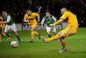 MOTHERWELL'S MICHAEL HIGDON SCORES MOTHERWELL'S FIRST GOAL