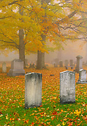 Greenlawn Cemetery during the autumn months in Mount Vernon, New Hampshire USA. See CTM6246-03