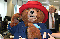 Paddington<br /> on the trading floor for the BGC Charity Day 2016, Canary Wharf, London.<br /> <br /> <br /> &copy;Ash Knotek  D3152  12/09/2016