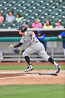 Jackson Generals left fielder Patrick Brady (11) runs to first during a game against the Tennessee Smokies at Smokies Stadium on July 5, 2016 in Kodak, Tennessee. The Generals defeated the Smokies 6-4. (Tony Farlow/Four Seam Images)
