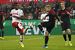 30.11.2019, RheinEnergieStadion, Koeln, GER, 1. FBL, 1.FC Koeln vs. FC Augsburg,<br />  <br /> DFL regulations prohibit any use of photographs as image sequences and/or quasi-video<br /> <br /> im Bild / picture shows: <br /> Philipp Max (FC Augsburg #31),  im Zweikampf gegen  Jhon Córdoba (FC Koeln #15),   <br /> <br /> Foto © nordphoto / Meuter
