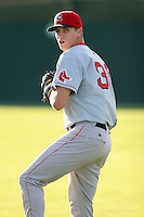 September 9 2008:  Pitcher Bryan Price of the Lowell Spinners, Class-A affiliate of the Boston Red Sox, during a game at Dwyer Stadium in Batavia, NY.  Photo by:  Mike Janes/Four Seam Images