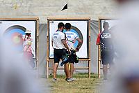 Mauro Nespoli Olimpico Mixed Team <br /> David Pasqualucci Olimpico <br /> <br /> ITALIA Italy Arco Olimpico <br /> Roma 02-09-2017 Stadio dei Marmi <br /> Roma 2017 Hyundai Archery World Cup Final <br /> Finale Coppa del mondo tiro con l'arco <br /> Foto Antonietta Baldassarre Insidefoto/Fitarco
