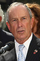 New York City Mayor Michael Bloomberg pictured during the launch of Fashion Week at the Lincoln Center