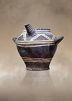 Vasiliki Ware spouted jar,  Vasiliki 2300-1900 BC BC, Heraklion Archaeological  Museum.