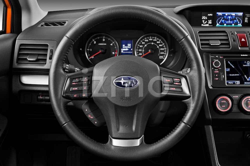 Steering wheel view of a 2012 Subaru XV Executive SUV