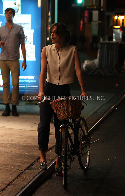 WWW.ACEPIXS.COM . . . . .  ....July 10n 2012, New York City....Actress Keira Knightley on the set of the new movie 'Can a song save your life' on July 10 2012 in New York City....Please byline: Zelig Shaul - ACE PICTURES.... *** ***..Ace Pictures, Inc:  ..Philip Vaughan (212) 243-8787 or (646) 769 0430..e-mail: info@acepixs.com..web: http://www.acepixs.com