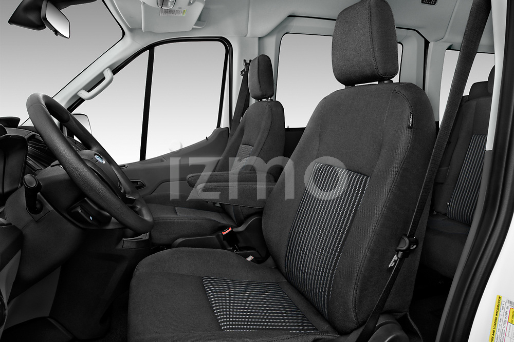 Front seat view of a 2019 Ford Transit Wagon 150 XLT Wagon Med Roof Sliding Pass. 130 5 Door Passenger Van front seat car photos