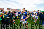Killian Spillane Kerry captain celebrates with his mother Helen after Kerry's victory over Meath in the All Ireland Junior Football Final at O'Moore Park, Portlaoise on Saturday.