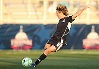 Sonia Bompastor #8 of the Washington Freedom winds up for a shot during a WPS match against the Boston Breakers at the Maryland Soccerplex, in Boyd's, Maryland, on April 18 2009. Breakers won the match 3-1.