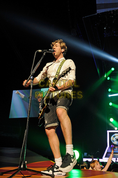 LONDON, ENGLAND - APRIL 5: James Bourne of 'McBusted' performing at o2 Arena on April 5, 2015 in London, England.<br /> CAP/MAR<br /> &copy; Martin Harris/Capital Pictures