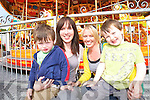 FUNFAIR: Enjoying all the fun of the fair at the weekend were l-r: Hugh and Ciara Nicholas, Deirdre Daly and Luke Nicholas..   Copyright Kerry's Eye 2008