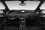 Stock photo of straight dashboard view of a 2018 Mercedes Benz B Class Base 5 Door Hatchback