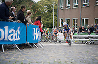Tom Boonen (BEL/Etixx-QuickStep) racing on home soil (and leading the race at this point) today in the Heistse Pijl 2016