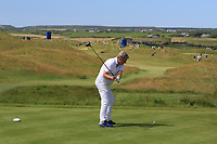 Playing with Jon Rahm (ESP) on the 10th tee during the Pro-Am of the Irish Open at LaHinch Golf Club, LaHinch, Co. Clare on Wednesday 3rd July 2019.<br /> Picture:  Thos Caffrey / Golffile<br /> <br /> All photos usage must carry mandatory copyright credit (© Golffile | Thos Caffrey)