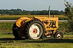 Minneapolis-Moline tractors in Prairie Gold paint, Model U, 1955, Iowa