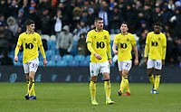 The Blackburn Rovers players show their dejection after going 4-1 behind<br /> <br /> Photographer David Shipman/CameraSport<br /> <br /> The EFL Sky Bet Championship - Sheffield Wednesday v Blackburn Rovers - Saturday 16th March 2019 - Hillsborough - Sheffield<br /> <br /> World Copyright &copy; 2019 CameraSport. All rights reserved. 43 Linden Ave. Countesthorpe. Leicester. England. LE8 5PG - Tel: +44 (0) 116 277 4147 - admin@camerasport.com - www.camerasport.com
