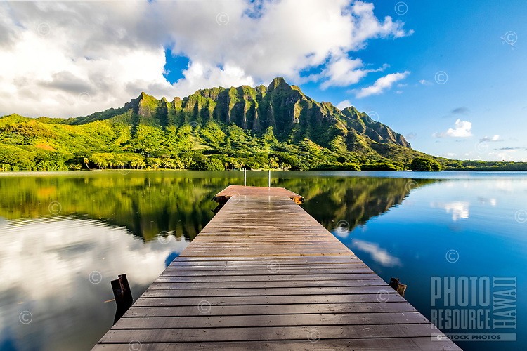 Glassy conditions at Kualoa Ranch, Windward O'ahu.