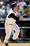 26 August 2007:  Colorado Rockies second baseman Kazuo Matsui in action against the Washington Nationals at Coors Field in Denver, Colorado. The Rockies defeated the Nationals 10-5 to sweep the 3-game series...Mandatory Photo Credit: Ed Wolfstein Photo
