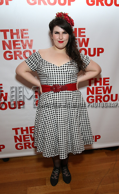 """Florrie Bagel attends the Off-Broadway Opening Night Premiere of  """"Jerry Springer-The Opera"""" on February 22, 2018 at the Green Fig Urban Eatery in New York City."""