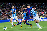 Sergi Roberto Carnicer (l) of FC Barcelona competes for the ball with Luis Hernandez Rodriguez of Malaga CF during the La Liga 2017-18 match between FC Barcelona and Malaga CF at Camp Nou on 21 October 2017 in Barcelona, Spain. Photo by Vicens Gimenez / Power Sport Images