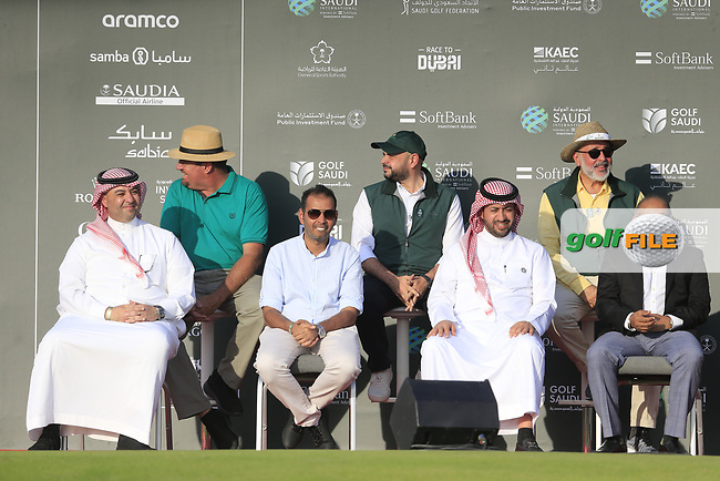 Presentation party gathering at the end of play for the final round of  the Saudi International powered by Softbank Investment Advisers, Royal Greens G&CC, King Abdullah Economic City,  Saudi Arabia. 02/02/2020<br /> Picture: Golffile | Fran Caffrey<br /> <br /> <br /> All photo usage must carry mandatory copyright credit (© Golffile | Fran Caffrey)