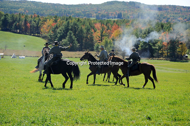 Civil War Reenactment Cavalry Skirmish