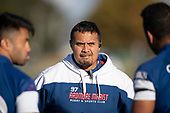 Doug Sanft, Ardmore Marist Coach. Counties Manukau Premier Club Rugby 'Game of the Week' between Ardmore Marist and Manurewa played at Bruce Pulman Park Papakura or Saturday May 4th 2019. Ardmore Marist won the game 34 - 25 after leading 21 - 6 at halftime. <br /> Photo by Richard Spranger.
