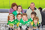 Kerry supporters at the Kerry Senior Football Team Media day at Fitzgerald Stadium on Saturday Front Row Emier Warren, Dermuid Helen Heaslip, , Donnacha Helen Heaslip, , Ethan Slattery and Brayden Slattery, back row Maragart Warren, Niamh O Leary, Padraig Slattery (Killarney)...