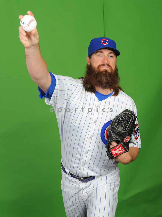 Chicago Cubs Brian Schlitter (63) during photo day on March 2, 2015 in Mesa, AZ.