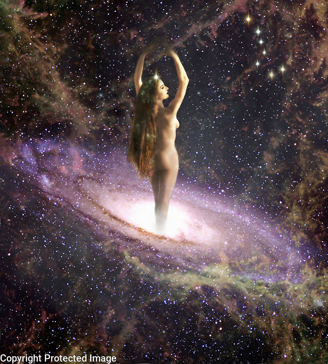 Gaia Goddess - fantasy art - digitally enhanced photography. Fine art image from the Astral Travel series.