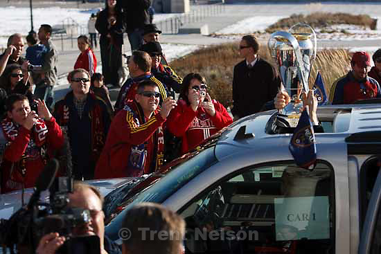 fans. Celebration for Real Salt Lake's MLS Cup win Tuesday, November 24 2009.