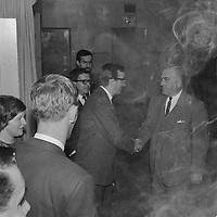 Le depute de l'Union Nationale Maurice Bellemare, Octobre 1965 (entre le 2 et le 8)<br /> <br /> PHOTO : Agence Quebec Presse  - Photo Moderne