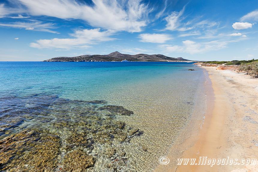 Kako Rema beach of Antiparos island in Cyclades, Greece