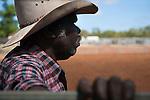 Indigenous stockman at the Chillagoe Rodeo.  Chillagoe, Queensland, Australia