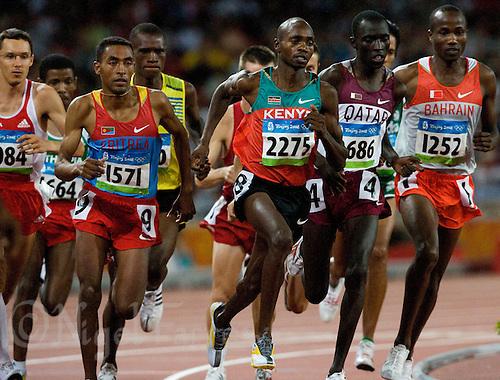 17 AUG 2008 - BEIJING, CHN - Micah Kogo (KEN) - Mens 10000m Final - Beijing Olympics. (PHOTO (C) NIGEL FARROW) *** IOC RULES APPLY ON USAGE ***