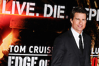 "Tom Cruise arriving for the World premiere of ""Edge of Tomorrow"" at the IMAX London, the first of three premieres around the world for the film in one day. 28/05/2014 Picture by: Steve Vas / Featureflash"