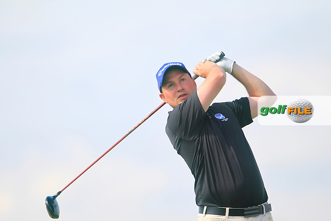 Matt Clarke (SCO) during the Home Internationals day 2 foursomes matches supported by Fairstone Financial Management Ltd. at Royal Portrush Golf Club, Portrush, Co.Antrim, Ireland.  13/08/2015.<br /> Picture: Golffile | Fran Caffrey<br /> <br /> <br /> All photo usage must carry mandatory copyright credit (&copy; Golffile | Fran Caffrey)
