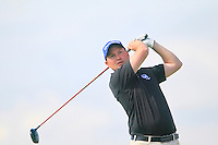 Matt Clarke (SCO) during the Home Internationals day 2 foursomes matches supported by Fairstone Financial Management Ltd. at Royal Portrush Golf Club, Portrush, Co.Antrim, Ireland.  13/08/2015.<br /> Picture: Golffile   Fran Caffrey<br /> <br /> <br /> All photo usage must carry mandatory copyright credit (© Golffile   Fran Caffrey)