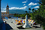 Nicaragua / Granada / Independence Plaza / Cathedral of Granada / Mombacho Volcano