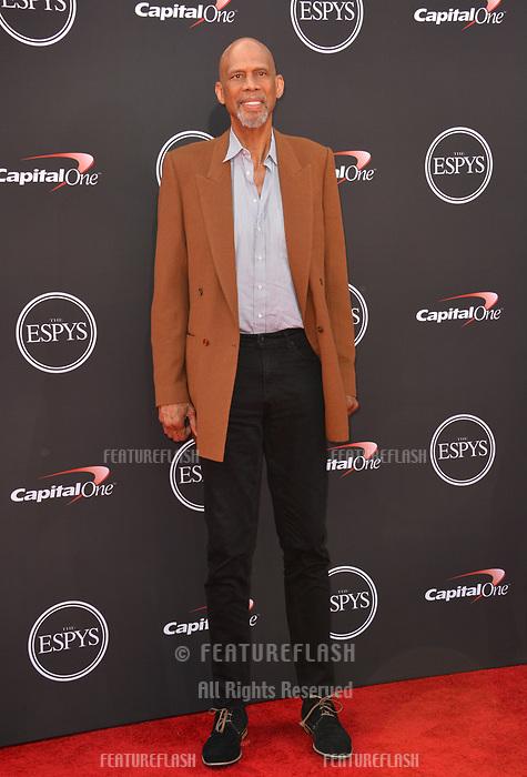 Kareem Abdul-Jabbar at the 2018 ESPY Awards at the Microsoft Theatre LA Live, Los Angeles, USA 18 July 2018<br /> Picture: Paul Smith/Featureflash/SilverHub 0208 004 5359 sales@silverhubmedia.com