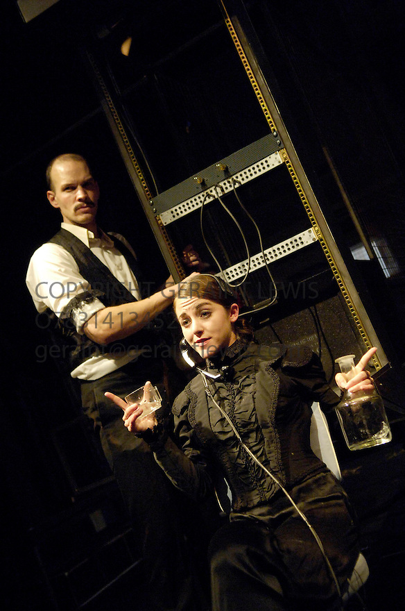 Switch Triptych by The Riot Group ,written and directed by Adriano Shaplin. With Stephanie Viola ,Andrew Friedman.Performing at the Assembly Rooms at the Edinburgh Festival 2005. CREDIT Geraint Lewis