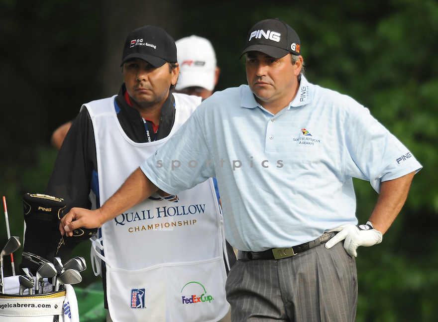 ANGEL CAGRERA, during the first round of the Quail Hollow Championship, on April 30, 2009 in Charlotte, NC.